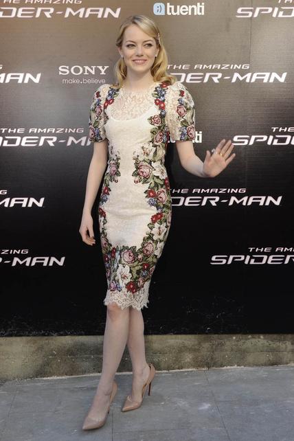 Los looks de Emma Stone en Madrid en la presentación de El Asombroso Spiderman