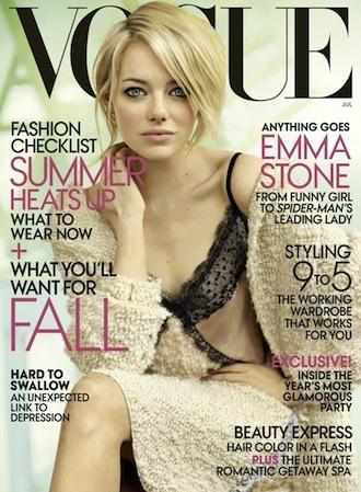Emma Stone, protagonista de la portada de Vogue USA de julio