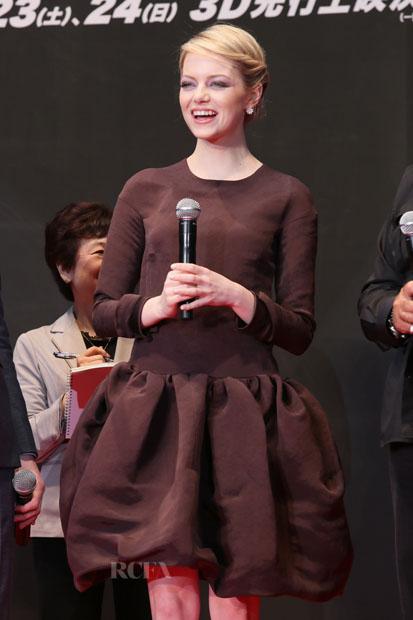 Look patatil para Emma Stone promocionando El Asombroso Spiderman
