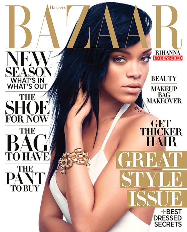 RIhanna  es portada de Harper's Bazaar del mes de agosto