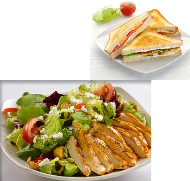 ¿Qué tiene menos calorías, un sandwich o una ensalada?