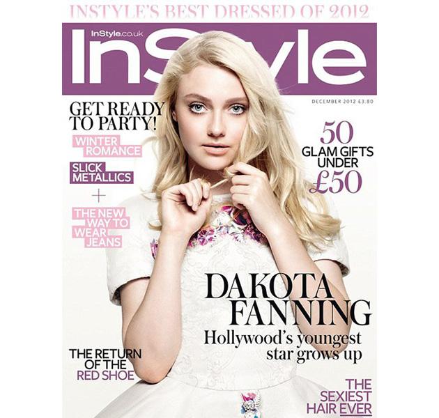 Dakota Fanning en la portada de InStyle UK