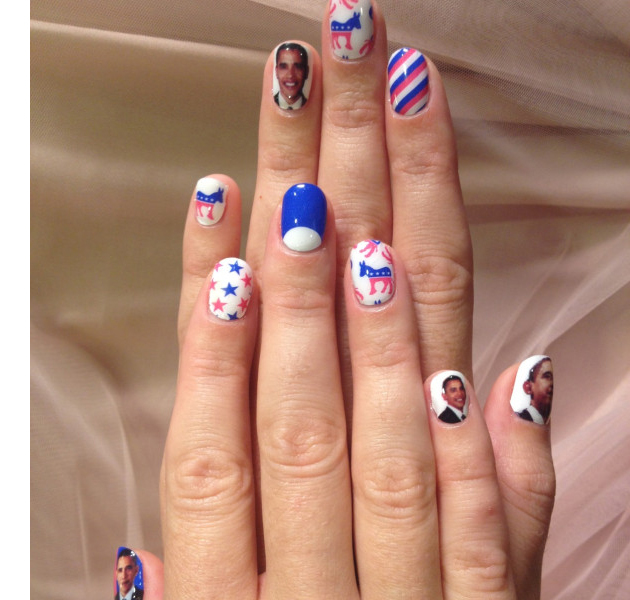 Katy Perry con manicura pro-Obama