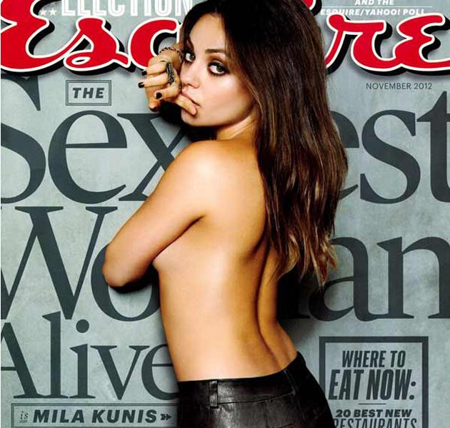 Mila Kunis elegida la mujer más sexy