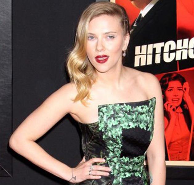 Scarlett Johansson en la premiere de Hitchcock