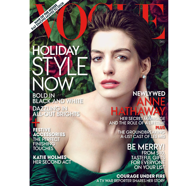 Anne Hathaway, portada de Vogue USA