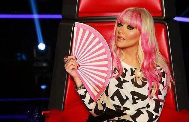 Christina Aguilera con su peor look en The Voice