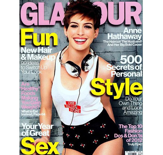 Anne Hathaway, híper moderna en Glamour