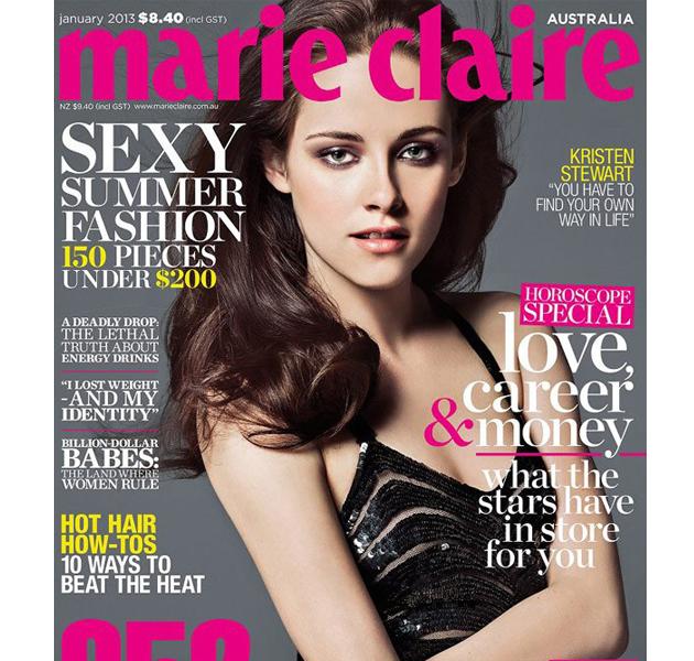Kristen Stewart, muy delgada en la portada de Marie Claire