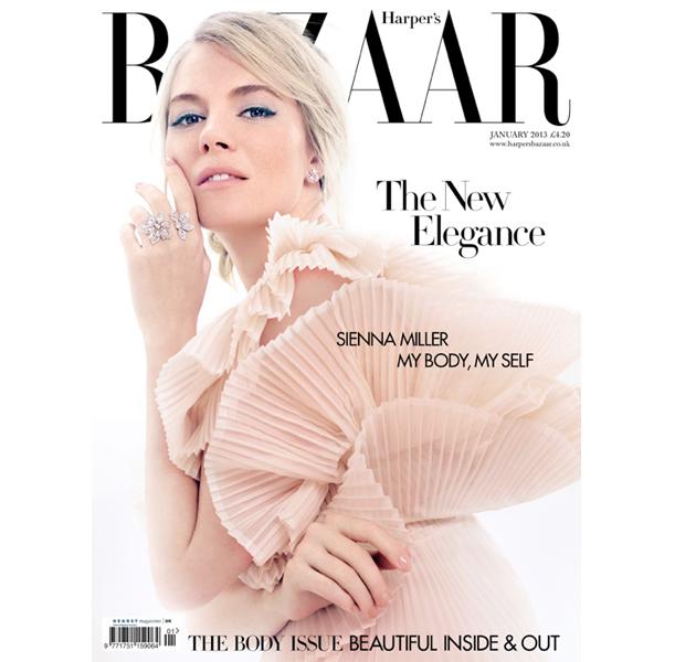 Sienna Miller, retro en Harper's Bazaar