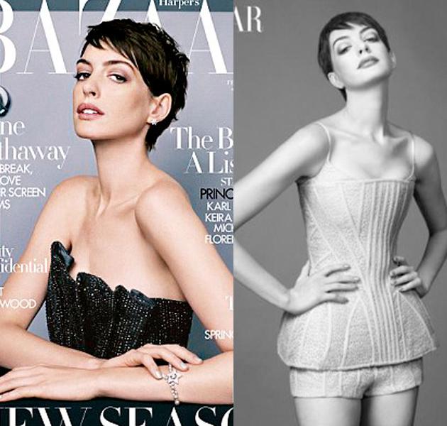 Anne Hathaway portada de Harper's Bazaar