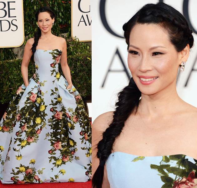 Lucy Liu y su trenza en los Globos de Oro ¿volverá a estar de moda?
