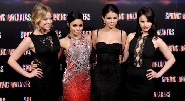 Selena Gomez, Vanessa Hudgens y Ashley Benson se despendolan en Madrid presentado Spring Breakers