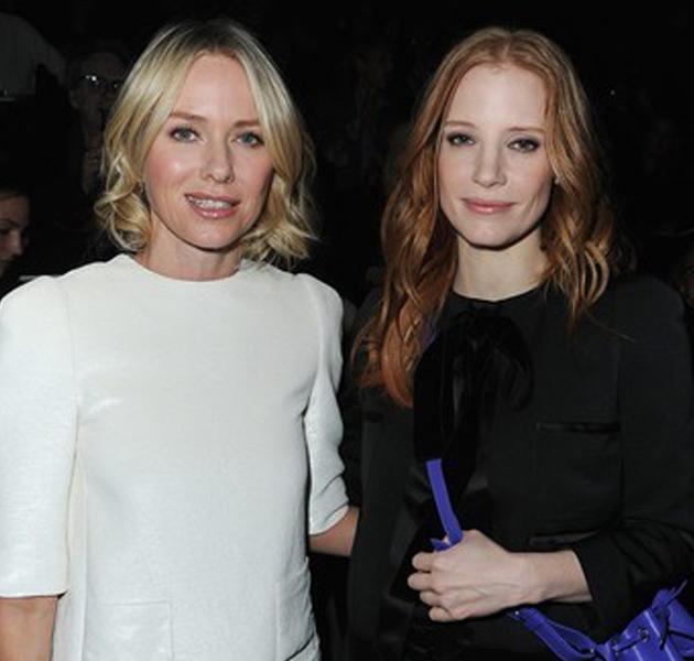 Front row del desfile de Louis Vuitton otoño 2013: Naomi Watts, Jessica Chastain…