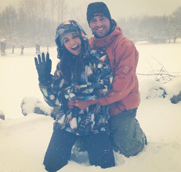 Paula Echevarría y David Bustamante, mejor que nunca, disfrutando de la nieve