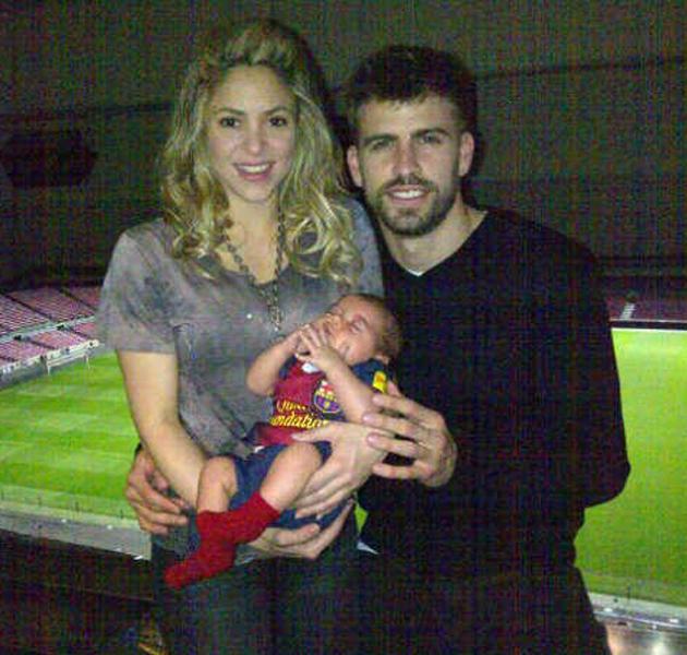 Milan Piqué Mebarak, el hijo de Gerard Piqué y Shakira ya ha estado en el Camp Nou