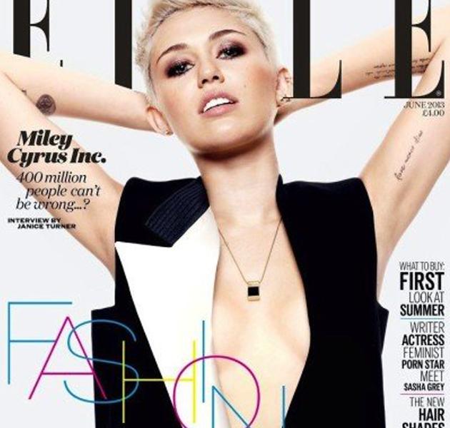 Miley Cyrus, en portada de Elle