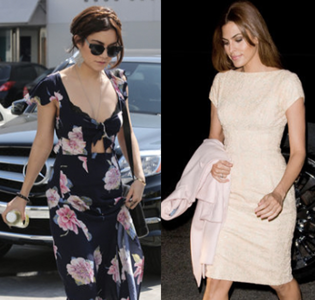 La primavera ya ha llegado a los looks de las celbrities: Eva Mendes, Jessica Alba, Vanessa Hudgens