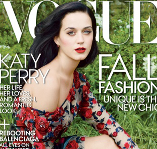 Katy Perry, más natural que nunca, en la portada de Vogue USA
