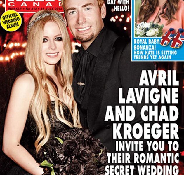 Avril Lavigne, una novia vestida de negro