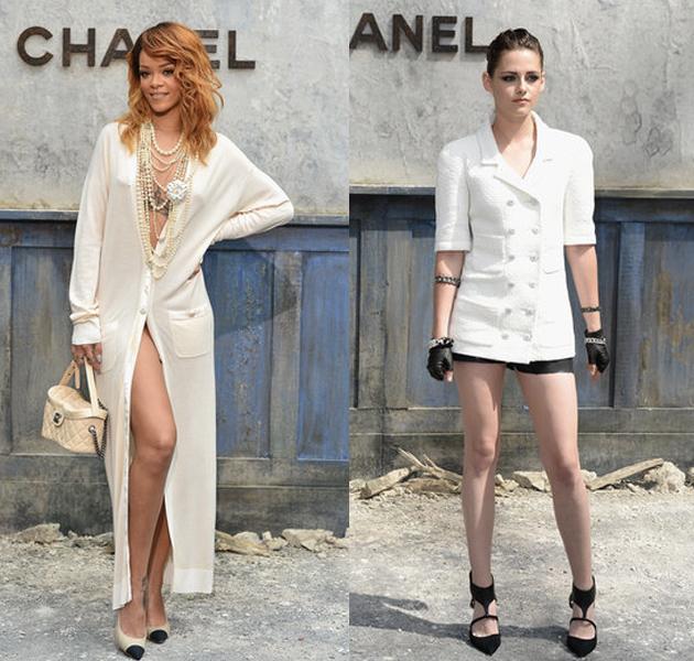 Rihanna y Kristen Stewart en el desfile de Alta Costura de Chanel