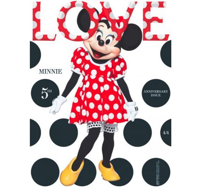 Minnie Mouse en la portada de Love Magazine
