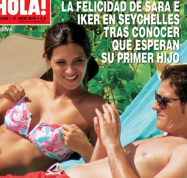 Sara Carbonero e Íker Casillas, embarazados y de vacaciones en las Seychelles