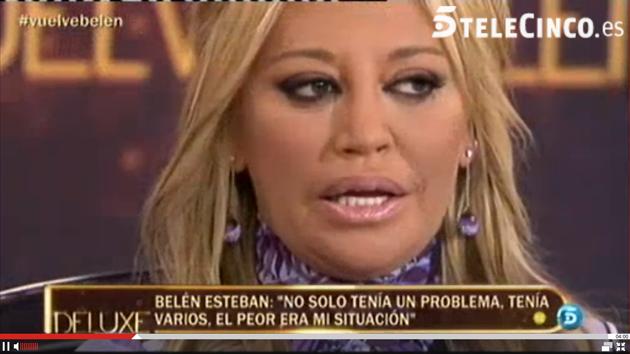 Belen Esteban habla de sus adicciones en su vuelta a la televisión