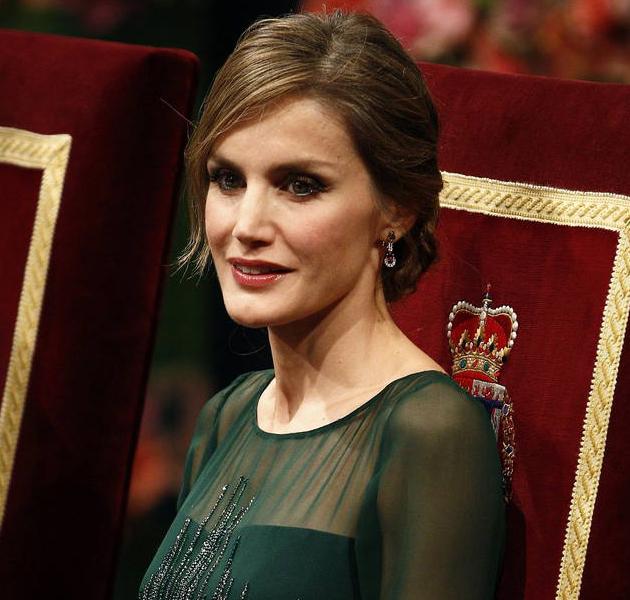 Letizia Ortiz, look verde en los Premios Príncipe de Asturias