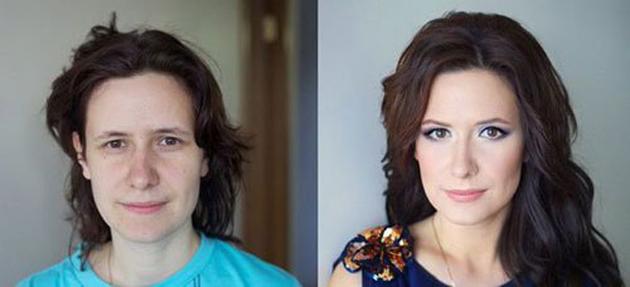 Las mejores fotos de antes y después de maquillar