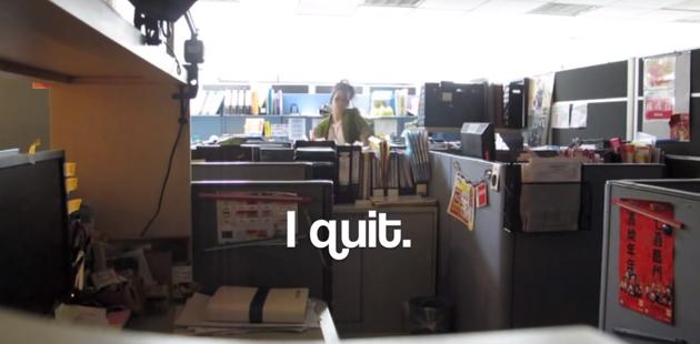 Video viral de una chica dejando su trabajo