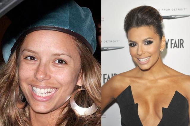 Famosas antes y después del maquillaje