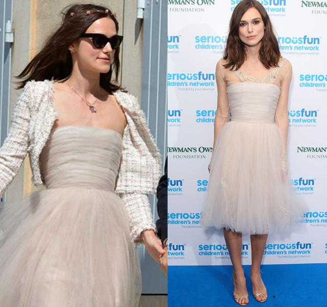 Keira Knightley reutiliza su vestido de novia