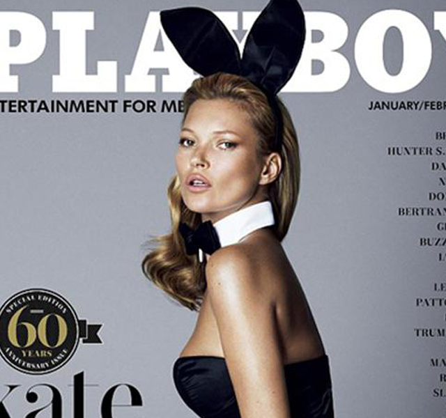 Portada y fotos de Kate Moss desnuda en Playboy
