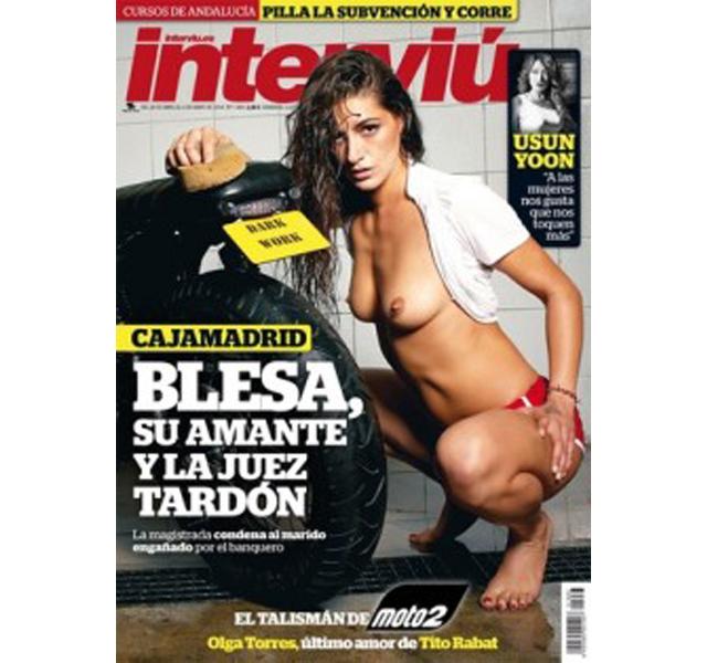 Interviú desnuda a la hermana de Jordi Torres