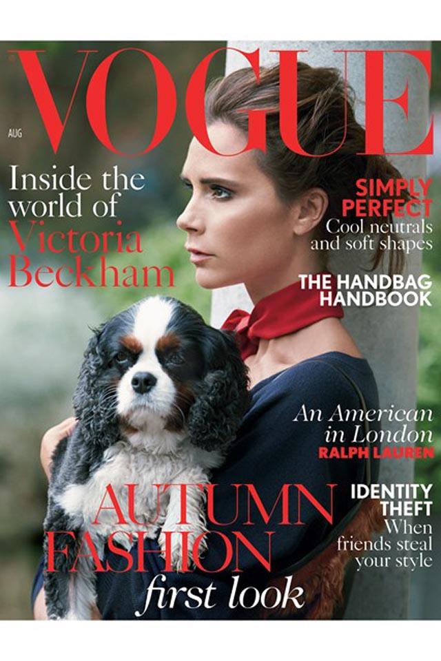 Victoria Beckham es portada de Vogue en Agosto
