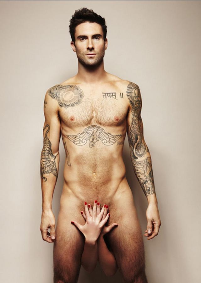 Adam Levine desnudo