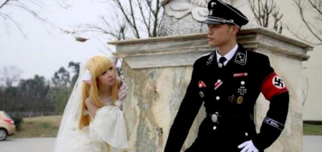 La moda de las bodas nazis en Asia