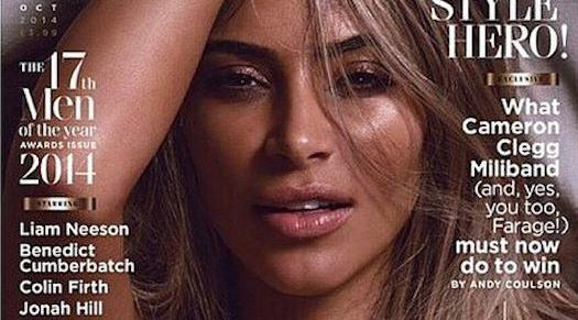 Todas las fotos de Kim Kardashian desnuda para GQ