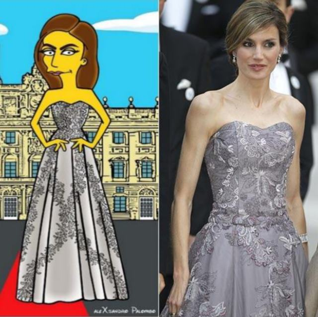 La polémica versión Simpson de la Reina Letizia