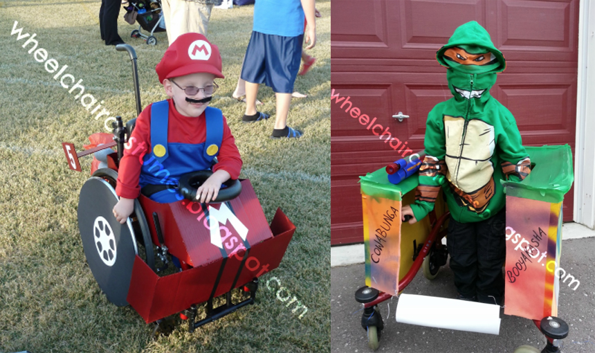 Una madre crea cada Halloween un original disfraz para su hijo en silla de ruedas