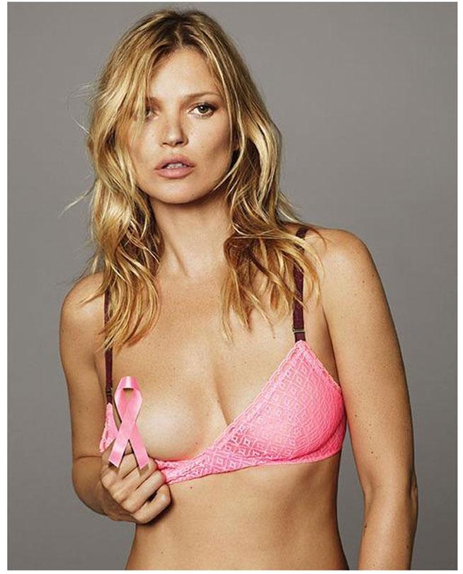 Kate Moss desnuda contra el cáncer de mama