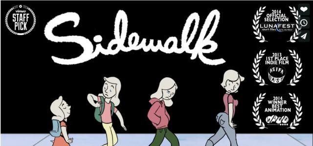 Sidewalk: Un precioso corto animado sobre cómo es la vida de una mujer