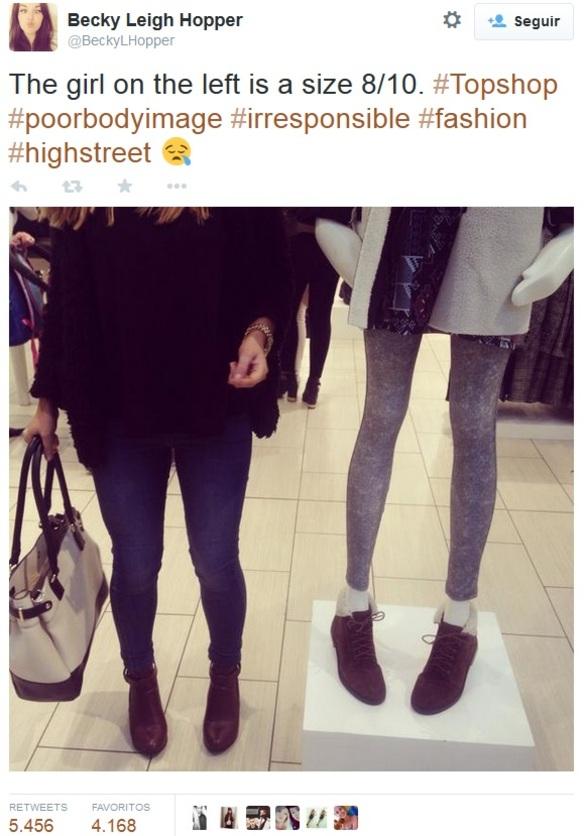 Polémica por el maniquí anoréxico de Topshop
