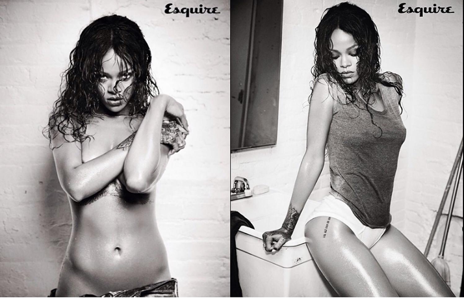 Rihanna desnuda en el último número de Esquire