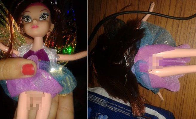 Unos padres indignados al descubrir que la muñeca de Campanilla de su hija es un travesti