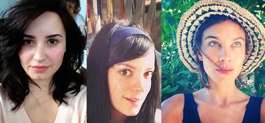 Estas famosas no tienen miedo a hacerse fotos sin maquillar ¡y no nos extraña!