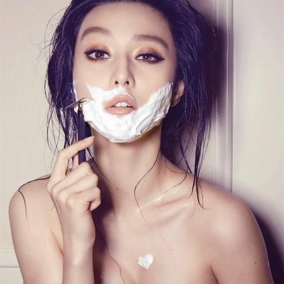 Lo último en belleza femenina es afeitarse la cara