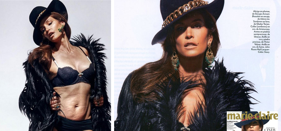 Cindy Crawford sin Photoshop: una bomba en las redes