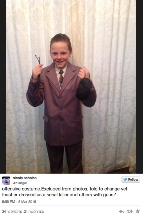 Un niño se disfraza de Christian Grey y lo expulsan de la fiesta del colegio